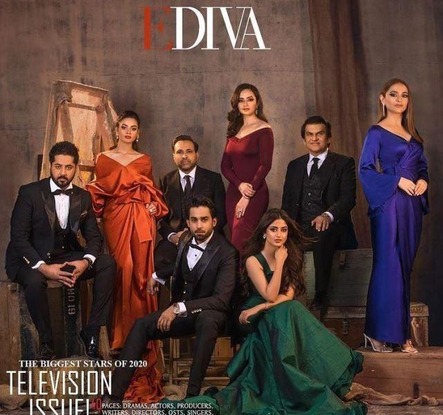 EDIVA पत्रिका के कवर पर मीनल खान
