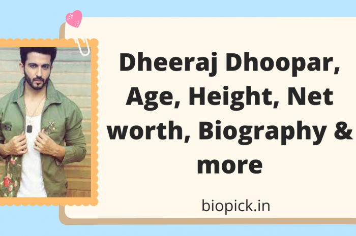 Dheeraj Dhoopar wife, Age, family, Net worth, Biography and More