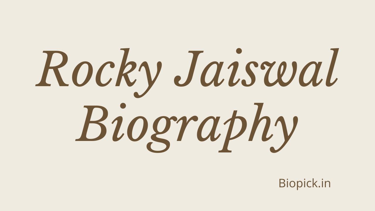 TelevisionRocky Jaiswal Wiki